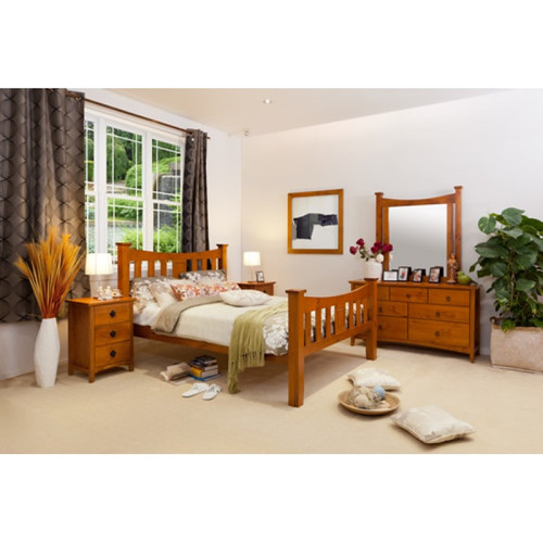 SEATTLE KING 5 PIECE BEDROOM SUITE - GOLDEN OAK (AL1)