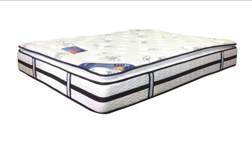 SINGLE JUST DREAM (32PA-01) PILLOW TOP POCKET SPRING ENSEMBLE (MATTRESS & BASE) WITH LATEX AND BODY CARE (SWB) BASE- FIRM