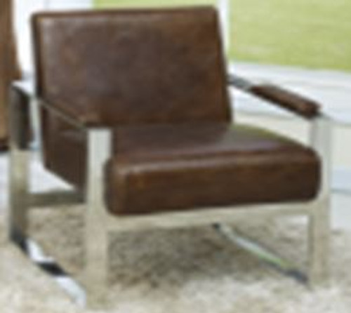 PISA (2010) 1 SEATER FULL LEATHER + STAINLESS STEEL CHAIR