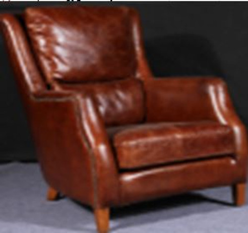 GALGANO  (2031) 1 SEATER  CHAIR  -  FULL LEATHER