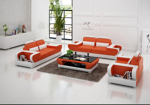 MUREX (G8003D) 3 SEATER + 2 SEATER + 1 SEATER LOUNGE  SUITE WITH  COFFEE TABLE - CHOICE OF LEATHER AND ASSORTED COLOURS AVAILABLE