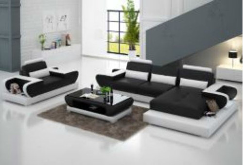 SLATINA  (G8003E) CHAISE SUITE + COFFEE TABLE - CHOICE OF LEATHER AND ASSORTED COLOURS AVAILABLE