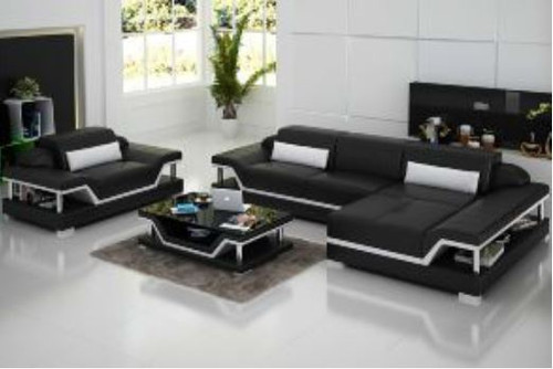 THORPE (G8004F) CHAISE SUITE + COFFEE TABLE - CHOICE OF LEATHER AND ASSORTED COLOURS AVAILABLE