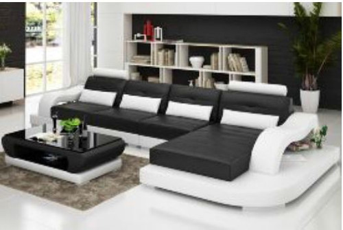 BONWELL (G8005C) CHAISE  LOUNGE SUITE + COFFEE TABLE - CHOICE OF LEATHER AND ASSORTED COLOURS AVAILABLE
