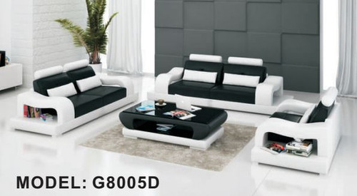 WILDEY  (G8005D) 3 SEATER + 2 SEATER + 1 SEATER LOUNGE  SUITE WITH  COFFEE TABLE - CHOICE OF LEATHER AND ASSORTED COLOURS AVAILABLE