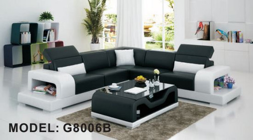 KIRTONS (G8006B) CORNER LOUNGE SUITE + COFFEE TABLE - CHOICE OF LEATHER AND ASSORTED COLOURS AVAILABLE