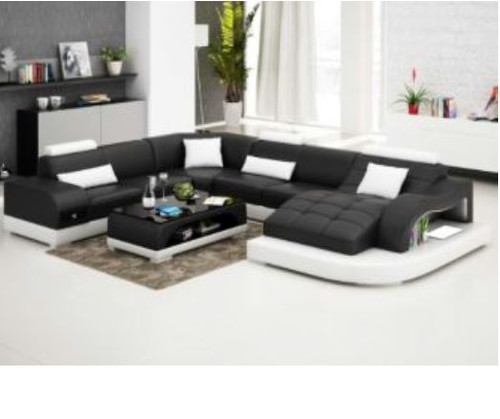 SUNBURY (G8009B) CORNER LOUNGE SUITE + COFFEE TABLE - CHOICE OF LEATHER AND ASSORTED COLOURS AVAILABLE
