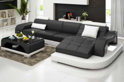 SUNBURY (G8009D) CHAISE SUITE + COFFEE TABLE - CHOICE OF LEATHER AND ASSORTED COLOURS AVAILABLE