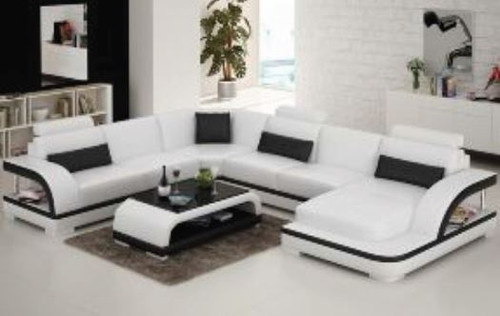 ZIKKI (G8011) CORNER LOUNGE SUITE + COFFEE TABLE - CHOICE OF LEATHER AND ASSORTED COLOURS AVAILABLE