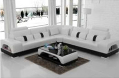 MASKALL (G8015B) CORNER LOUNGE SUITE + COFFEE TABLE - CHOICE OF LEATHER AND ASSORTED COLOURS AVAILABLE