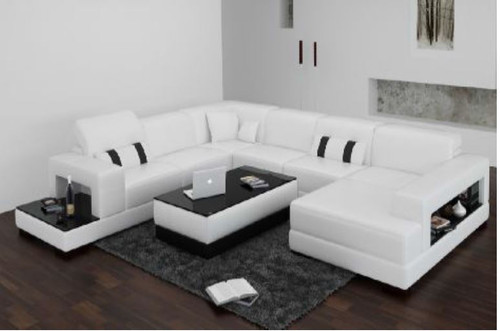 NUMORA (F3006) CORNER  LOUNGE SUITE +  COFFEE TABLE - CHOICE OF LEATHER AND ASSORTED COLOURS AVAILABLE