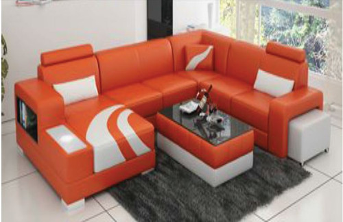 CONGLETON (F3007) CORNER  LOUNGE SUITE +  COFFEE TABLE - CHOICE OF LEATHER AND ASSORTED COLOURS AVAILABLE
