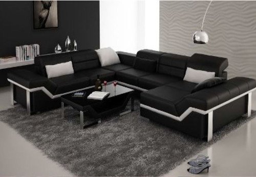 BEAZ (K5007) CORNER  LOUNGE SUITE +  COFFEE TABLE - CHOICE OF LEATHER AND ASSORTED COLOURS AVAILABLE