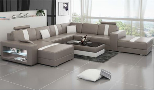 SMITZ  (K5010) CORNER  LOUNGE SUITE +  COFFEE TABLE - CHOICE OF LEATHER AND ASSORTED COLOURS AVAILABLE