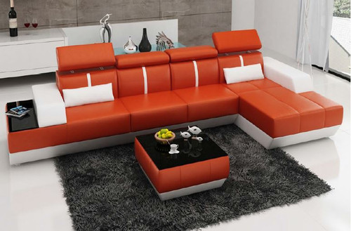 MARSAS  (K5015B) CHAISE  LOUNGE  +  COFFEE TABLE - CHOICE OF LEATHER AND ASSORTED COLOURS AVAILABLE