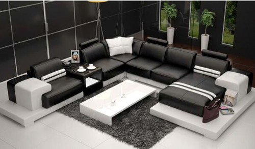 RANMONT (L6004) CORNER  LOUNGE  SUITE +  COFFEE TABLE - CHOICE OF LEATHER AND ASSORTED COLOURS AVAILABLE