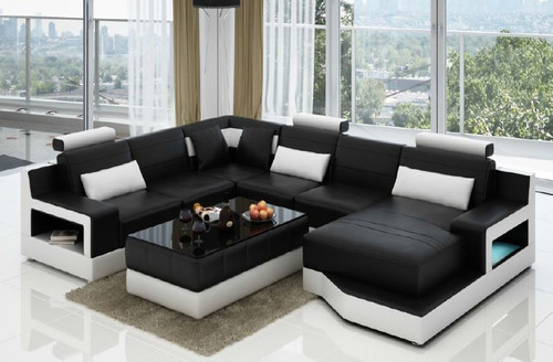 PARISA (L6010) CORNER  LOUNGE  SUITE +  COFFEE TABLE - CHOICE OF LEATHER AND ASSORTED COLOURS AVAILABLE