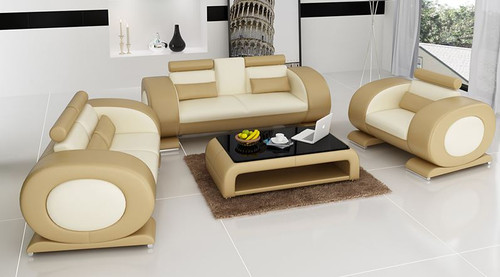 CAEIN  (R7004D)  3 SEATER + 2 SEATER + 1 SEATER +  COFFEE TABLE - CHOICE OF LEATHER AND ASSORTED COLOURS AVAILABLE