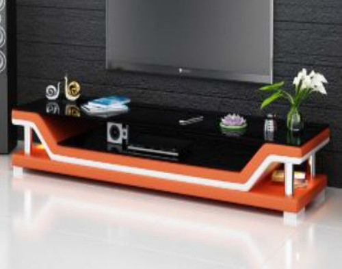 VERAPX (TS1003) TV STAND   - FULL PVC + 2 TEMPERED GLASS + LIGHT - 1950(W)