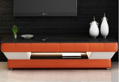 LARDA  (TS1008) TV STAND   - 1950(W) -  FULL PVC + 2 TEMPERED GLASS + LIGHT