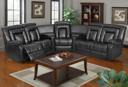 DAISY CORNER LEATHER RECLINER SUITE - CHOCOLATE , BLACK OR PEBBLE