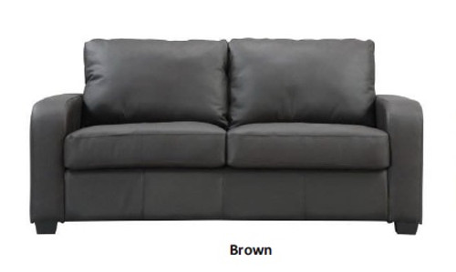 VIVA LEATHER DOUBLE SOFA BED - BROWN