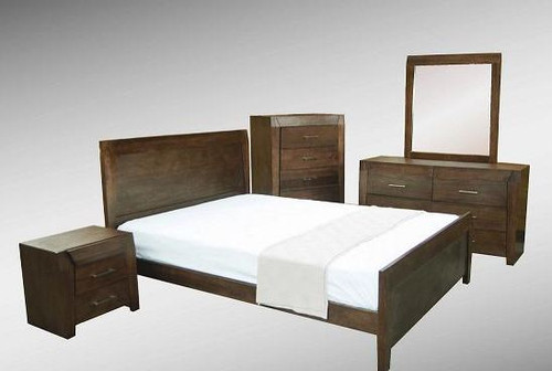 REBECCA (WD-002)  QUEEN 4 PIECE TALLBOY  BEDROOM SUITE - ESPRESSO