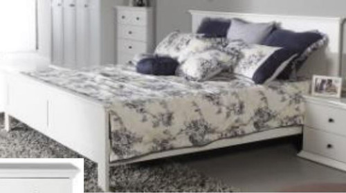 MALVERN (WD-155)  DOUBLE OR QUEEN  3  PIECE BEDSIDE  BEDROOM SUITE - SATIN WHITE