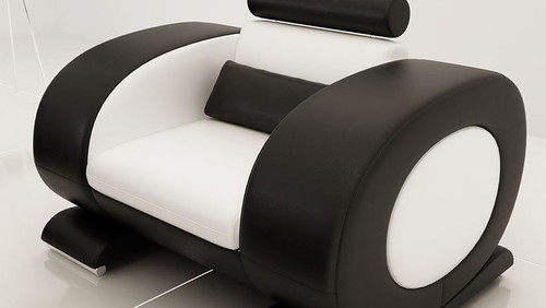 CAEIN  (R7004D)  SINGLE  SEATER  SOFA - CHOICE OF LEATHER AND ASSORTED COLOURS AVAILABLE