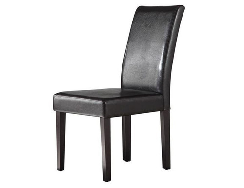 JUSTOX (PC042)   PU LEATHER DINING CHAIR SET  x 2 - BLACK