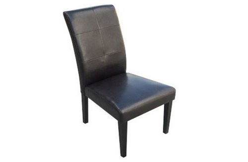 PANCHEX  (US01M)  BYCAST  LEATHER  DINING CHAIR SET x 2  - BLACK