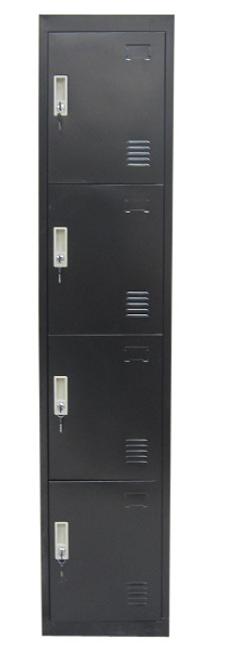 TOPAZ 4 - DOOR  STORAGE OFFICE GYM  LOCKERS (LLIE13) - 350(W) - BLACK