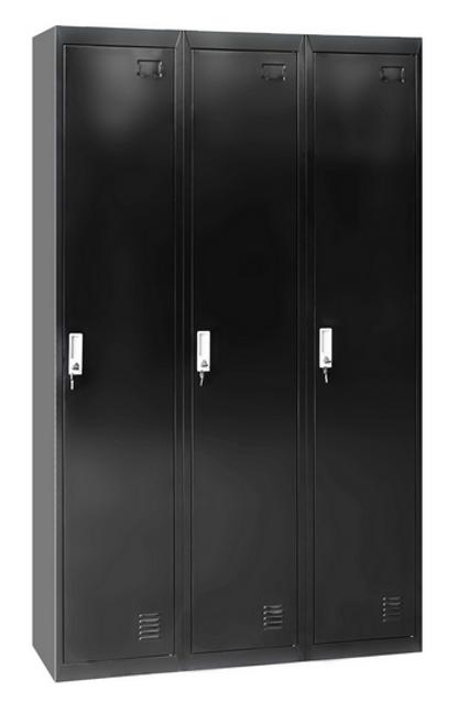 TOPAZ 3 - DOOR SIDE BY SIDE OFFICE - GYM - STORAGE - SHED - LOCKERS - 1140(W) x 450(D) - BLACK