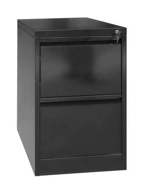 OSAS  (LLIE23) TWO  - DRAWER  OFFICE - GYM - STORAGE - SHED - LOCKERS - 350(W) - BLACK