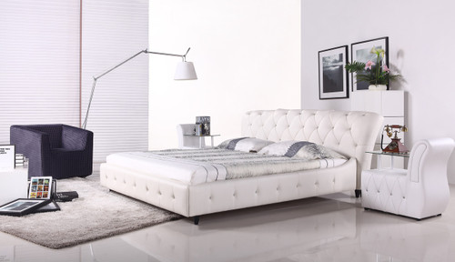 KING PEREZ LEATHERETTE BED (MODEL- A056) - ASSORTED COLOURS