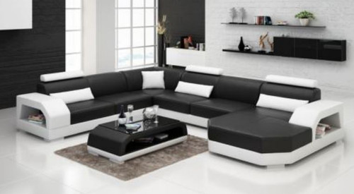 OSETA   CHAISE LOUNGE( MODEL-G1117C) IN BONDED LEATHER + PVC - CHOICE OF LEATHER AND ASSORTED COLOURS AVAILABLE