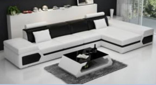 LUKA BONDED LEATHER CHAISE LOUNGE SUITE ( MODEL-G1116C) - CHOICE OF LEATHER AND ASSORTED COLOURS AVAILABLE
