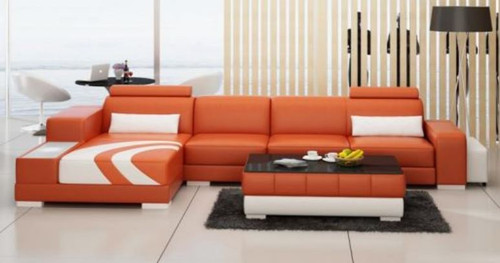ZANADI BONDED LEATHER CHAISE LOUNGE ( MODEL-G1112C) - CHOICE OF LEATHER AND ASSORTED COLOURS AVAILABLE