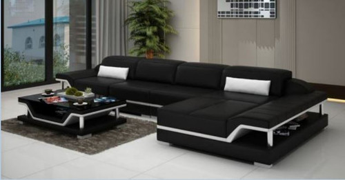 SARA BONDED LEATHER CHAISE LOUNGE ( MODEL-G1110C) - CHOICE OF LEATHER AND ASSORTED COLOURS AVAILABLE