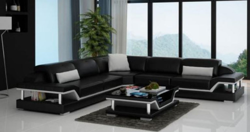 SARA BONDED LEATHER CORNER  LOUNGE SUITE ( MODEL-G1110B) - CHOICE OF LEATHER AND ASSORTED COLOURS AVAILABLE