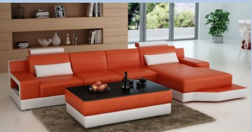AMARA  BONDED LEATHER CHAISE LOUNGE ( MODEL-G1108C) - CHOICE OF LEATHER AND ASSORTED COLOURS AVAILABLE