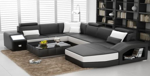 KATAWA BONDED LEATHER CHAISE LOUNGE SUITE( MODEL- G1107) - CHOICE OF LEATHER AND ASSORTED COLOURS AVAILABLE