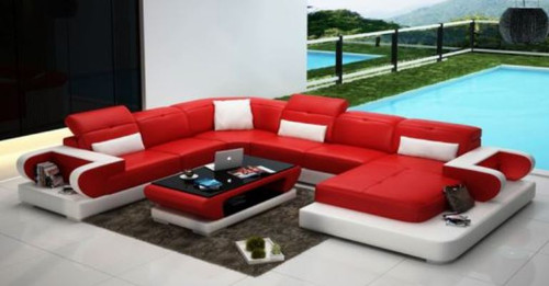 PANAFIM  BONDED LEATHER CHAISE LOUNGE SUITE( MODEL- G1106) - CHOICE OF LEATHER AND ASSORTED COLOURS AVAILABLE