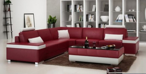 FILA   BONDED LEATHER CORNER  LOUNGE ( MODEL-G1103B) - CHOICE OF LEATHER AND ASSORTED COLOURS AVAILABLE