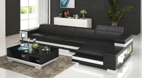 JEMBA  BONDED LEATHER CHAISE LOUNGE ( MODEL-G1102C) - CHOICE OF LEATHER AND ASSORTED COLOURS AVAILABLE