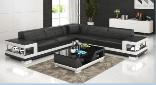 JEMBA BONDED LEATHER CORNER  LOUNGE SUITE ( MODEL-G1102B) - CHOICE OF LEATHER AND ASSORTED COLOURS AVAILABLE