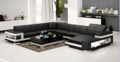 JEMBA   BONDED LEATHER CHAISE  LOUNGE ( MODEL-G1102) - CHOICE OF LEATHER AND ASSORTED COLOURS AVAILABLE