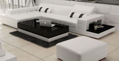 PATTERSON BONDED LEATHER CHAISE LOUNGE SUITE ( MODEL-G1101C) - CHOICE OF LEATHER AND ASSORTED COLOURS AVAILABLE
