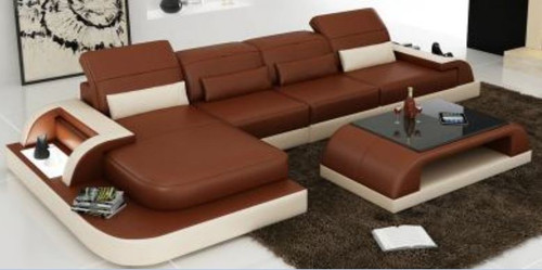 LANGO  BONDED LEATHER  CHAISE LOUNGE SUITE( MODEL- G1093C) - CHOICE OF LEATHER AND ASSORTED COLOURS AVAILABLE