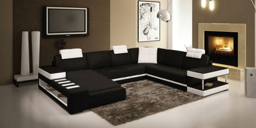 OBED BONDED LEATHER  CHAISE LOUNGE SUITE (MODEL- G1092) - CHOICE OF LEATHER AND ASSORTED COLOURS AVAILABLE